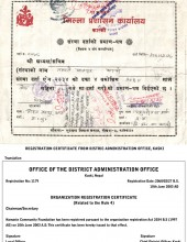 Registration Certificate from District Administration Office, Kaski