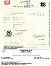 PAN Certificate from Internal Revenue Department, Kaski